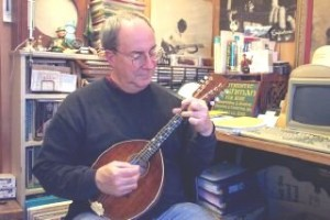 Jim with his Alrite Mandolin