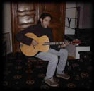 Andrew Collins with his Mandocello