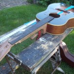 replaced neck flattop guitar